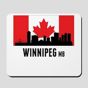 Winnipeg MB Canadian Flag Mousepad