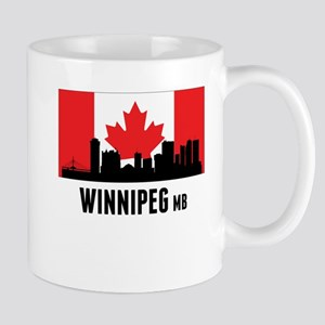 Winnipeg MB Canadian Flag Mugs
