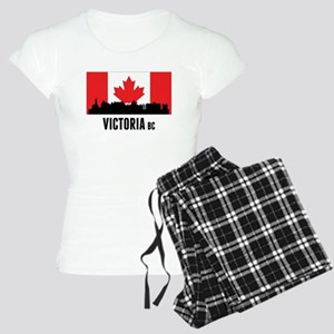 Victoria BC Canadian Flag Pajamas