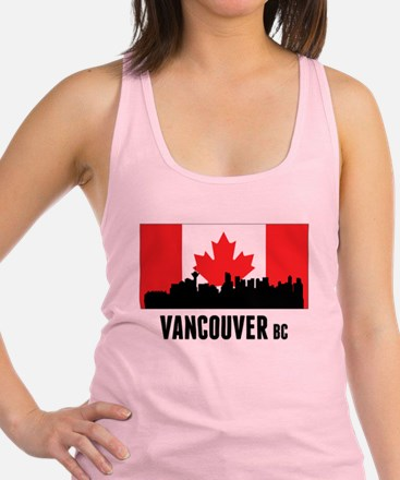 Vancouver BC Canadian Flag Racerback Tank Top