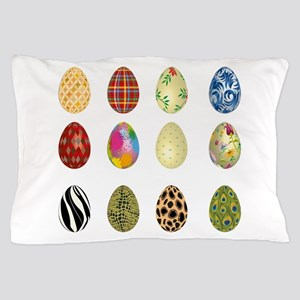 colorful easter eggs Pillow Case