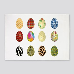 colorful easter eggs 5'x7'Area Rug