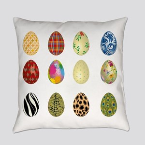 colorful easter eggs Everyday Pillow