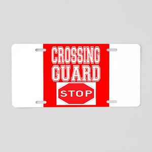 Crossing Guard Aluminum License Plate
