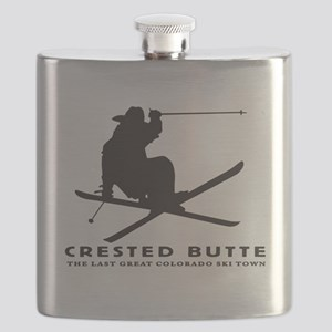 Ski Crested Butte COLORADO Flask