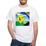 Leprechaun Crossing White T-Shirt