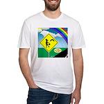 Leprechaun Crossing Fitted T-Shirt