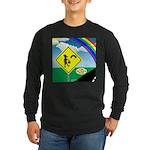 Leprechaun Crossing Long Sleeve Dark T-Shirt