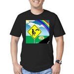 Leprechaun Crossing Men's Fitted T-Shirt (dark)