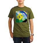 Leprechaun Crossing Organic Men's T-Shirt (dark)