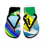 Leprechaun Crossing Flip Flops