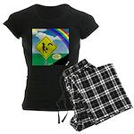 Leprechaun Crossing Women's Dark Pajamas