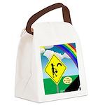 Leprechaun Crossing Canvas Lunch Bag