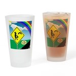 Leprechaun Crossing Drinking Glass