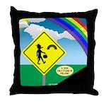 Leprechaun Crossing Throw Pillow
