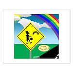 Leprechaun Crossing Small Poster