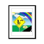 Leprechaun Crossing Framed Panel Print