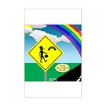 Leprechaun Crossing Mini Poster Print