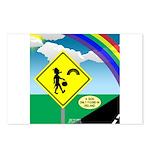 Leprechaun Crossing Postcards (Package of 8)