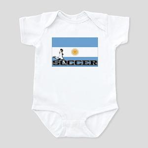 Argentina Flag Soccer Infant Bodysuit