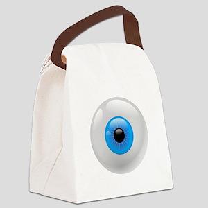 Giant Blue Eye Canvas Lunch Bag
