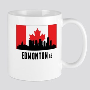 Edmonton AB Canadian Flag Mugs