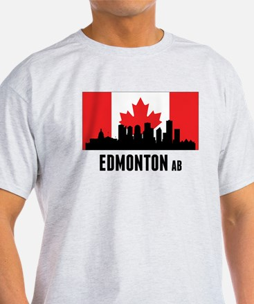 Edmonton AB Canadian Flag T-Shirt