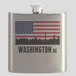 Washington DC American Flag Flask