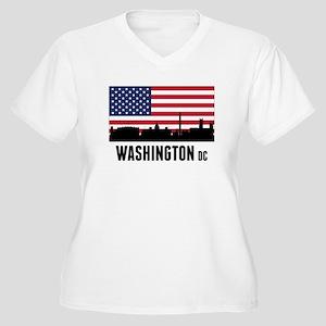 Washington DC American Flag Plus Size T-Shirt