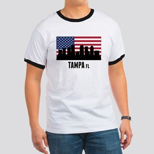 Tampa FL American Flag T-Shirt
