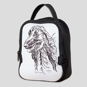 Afghan Hound Portait Neoprene Lunch Bag