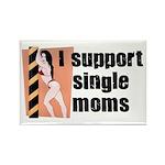I Support Single Moms Rectangle Magnet (10 pack)
