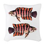 Ornate ctenopoma Woven Throw Pillow
