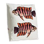 Ornate ctenopoma Burlap Throw Pillow