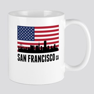 San Francisco CA American Flag Mugs