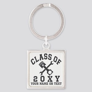 Class of 20?? Automotive Square Keychain