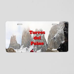 Torres del Paine, Chile Aluminum License Plate