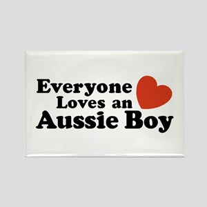 Everyone Loves an Aussie Boy Rectangle Magnet
