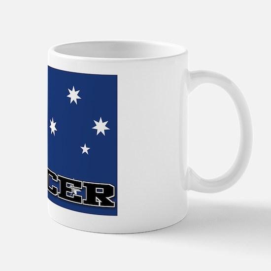 Australia Flag Soccer Mug