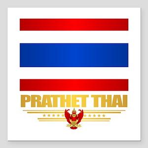 """Thailand Square Car Magnet 3"""" x 3"""""""