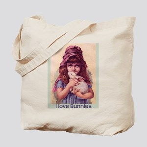 I Love Bunnies Girl Tote Bag