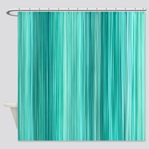 Ambient 5 in Teal Shower Curtain