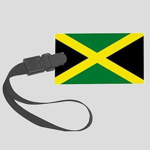 jamaican flag Large Luggage Tag