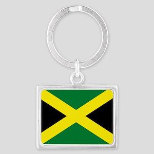 jamaican flag Landscape Keychain