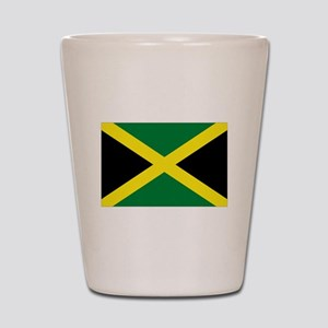 jamaican flag Shot Glass