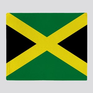 jamaican flag Throw Blanket