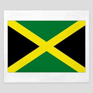 jamaican flag King Duvet