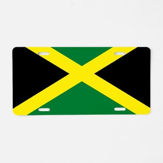 jamaican flag Aluminum License Plate