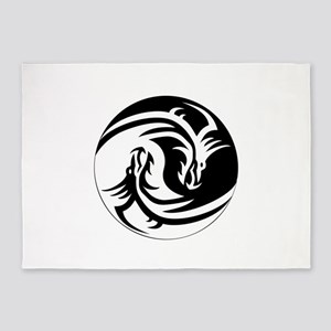 Dragon Circle 5'x7'Area Rug