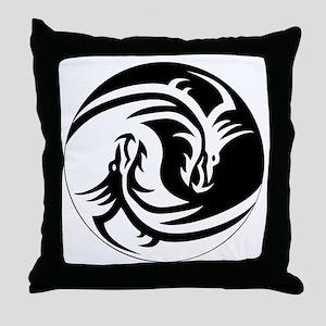 Dragon Circle Throw Pillow